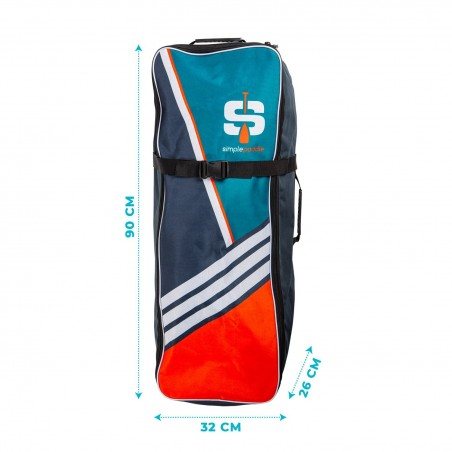 Stand up Paddle Gonflable 11'2, CANYON SIMPLE PADDLE 11'2 32'' 6'' (340x81x15cm) avec Pagaie, Leash, Pompe et Sac de Transport