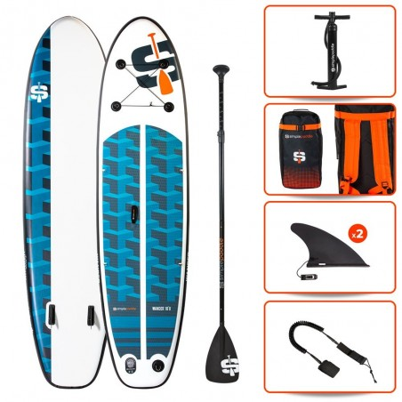 Stand up Paddle Gonflable 10'8 - WANDER SIMPLE PADDLE 10'8 32'' 6'' (325x81x15cm)